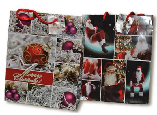 Подарочный пакет 25х20х8 см Holiday greetings фото