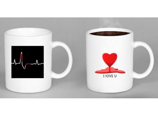 Чашка-хамелеон Кардио - Любовь фото