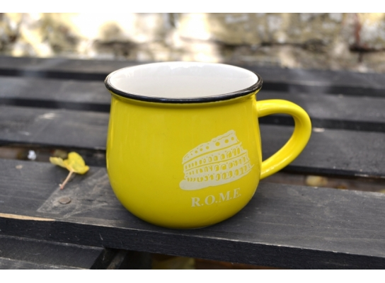 Чашка кувшин Zakka City желтая фото