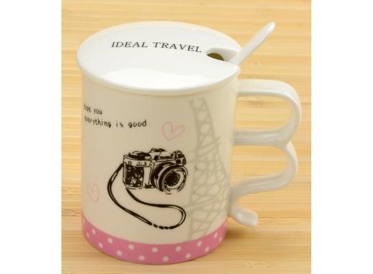 Чашка с крышкой Ideal travel Фотоаппарат