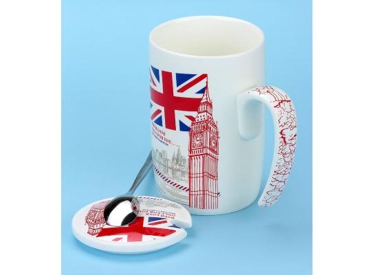 Чашка с крышкой Послание из Лондона, 400 мл фото