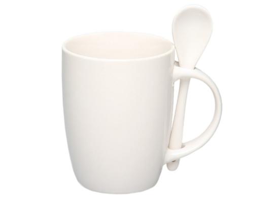 купить чашку с ложкой Original White