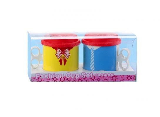 Набор чашек с крышками Мистер и Миссис Патриоты фото