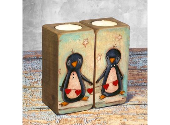 Подсвечник Пингвины фото
