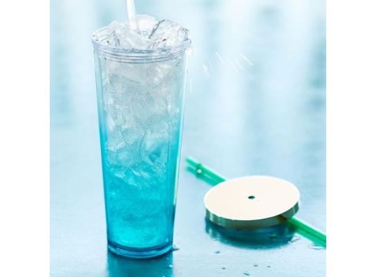 Термокружка с трубочкой Starbucks Blue Gradient 710 мл фото