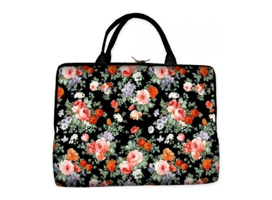 Сумка-чехол для ноутбука Цветы фото