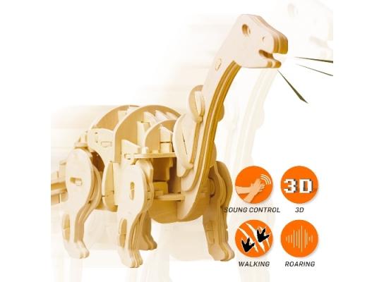 Деревянный 3D конструктор «Мини Апатозаурус» фото