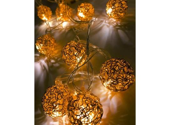 Гирлянда Шарик Золото проволока LED 20 фото 2