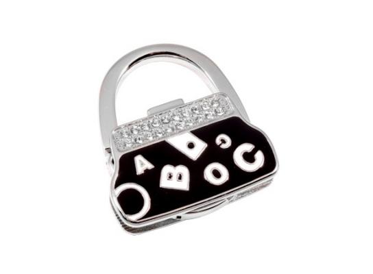 Вешалка для сумки Клатч Черный Алфавит фото