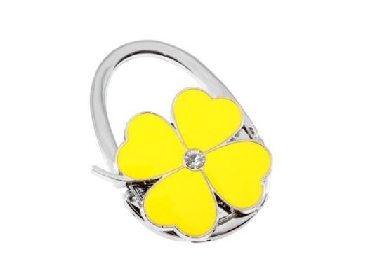 Вешалка для сумки Клевер Желтый фото