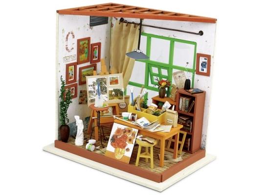 Кукольный домик «сделай сам». «Мастерская художника» фото