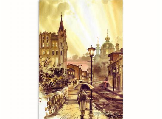 Набор для вышивки картины Львовская улочка 68х51см фото