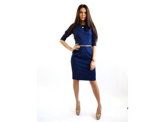 Платье темно синее Графиня фото