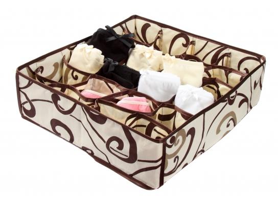 Коробочка для белья на 24 секции Молочный Шоколад фото