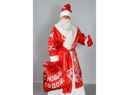 Костюм для взрослых Дед Мороз Красный фото
