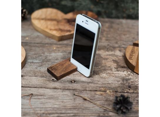 Деревянная подставка для смартфона UNO фото 1