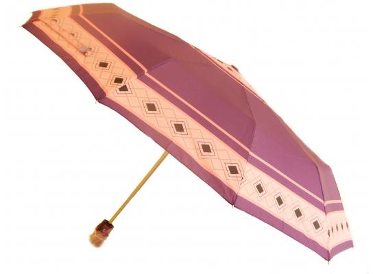 Зонт Антишторм автомат Фиолетовый с широкой полоской фото