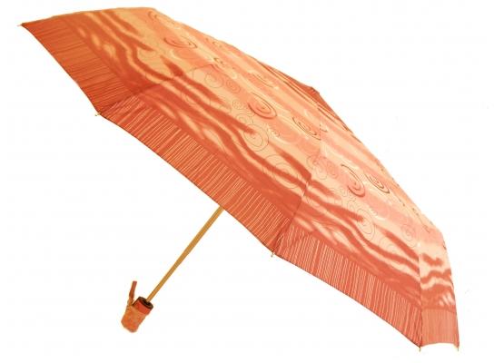 Зонт Антишторм автомат Оранжевый с завитушками фото