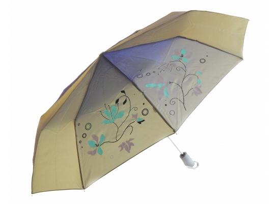 Зонт антишторм полуавтомат Цветы Хамелеон металлик фото