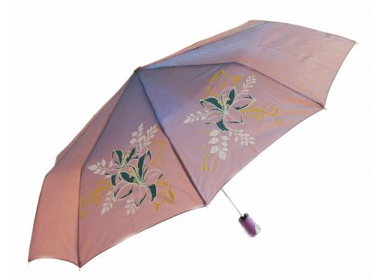 Зонт антишторм полуавтомат Цветы Хамелеон сиреневый фото