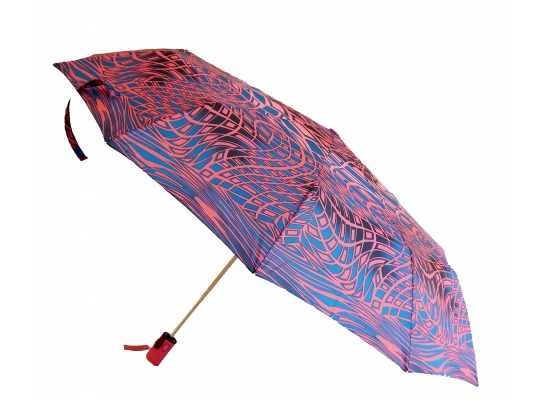 Зонт автомат Антишторм Love Rain Вектор темно розовый фото 1