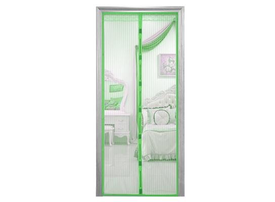 Дверная антимоскитная сетка Magnetic Mesh на магнитах зеленая фото