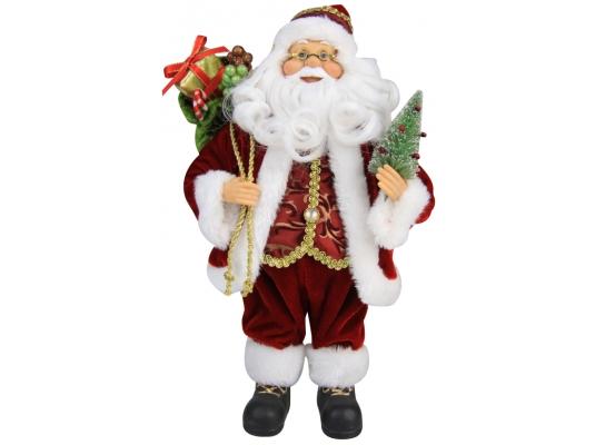 Дед Мороз в красной шубе 30,5см фото