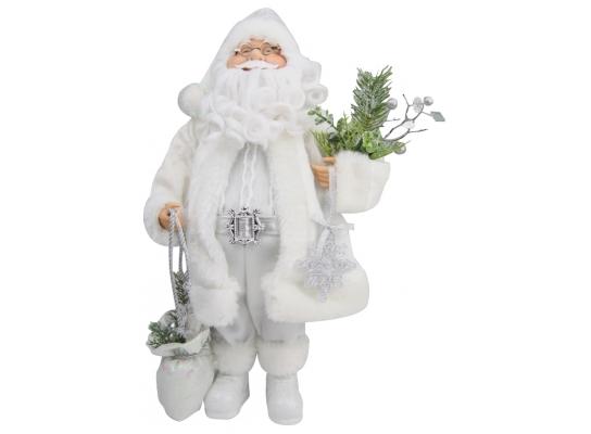 Дед Мороз в белой шубе 46см фото