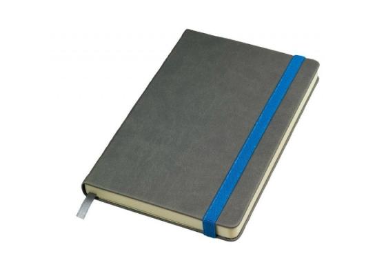 Бизнес-блокнот Fancy на синей на резинке