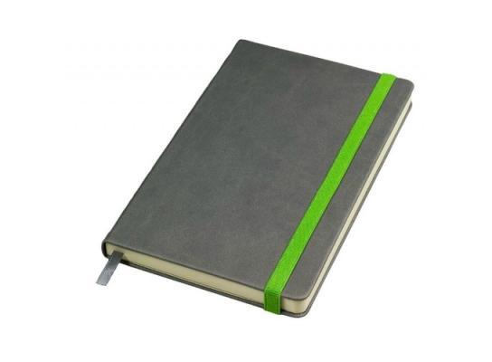 Бизнес-блокнот Fancy на зеленой на резинке