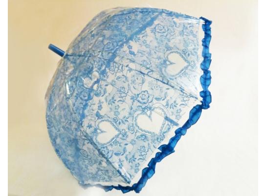 Детский зонт-трость синий ажур фото 2