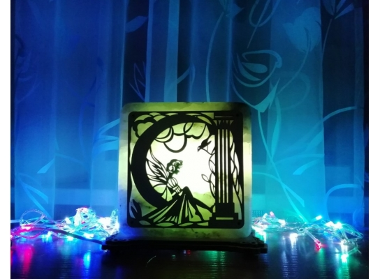 Соляная лампа зеленая Фея фото