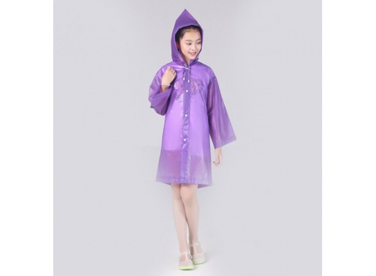 Плащ-дождевик детский фиолетовый фото