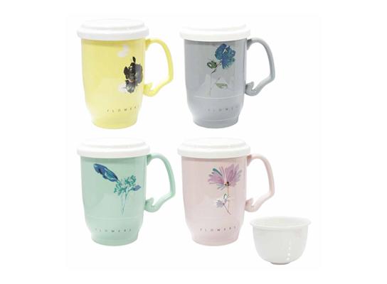 Чашка заварочная с керамическим ситом Ароматный чай фото