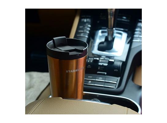 Походная термос чашка Starbucks Gold фото