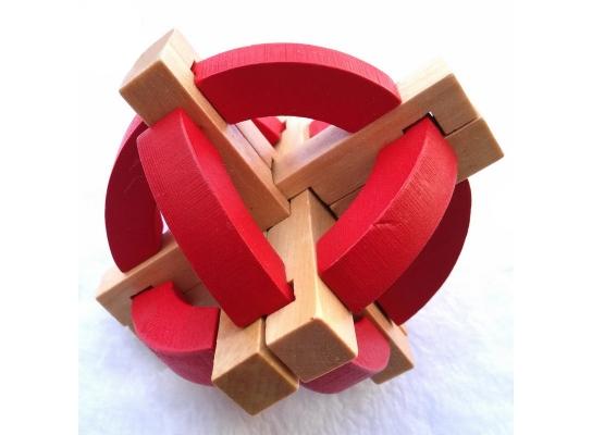 Головоломка деревянный Шар фото