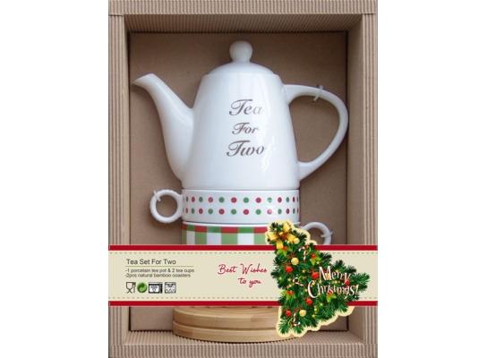 Новогодний набор для чайной церемонии 5пр. фото