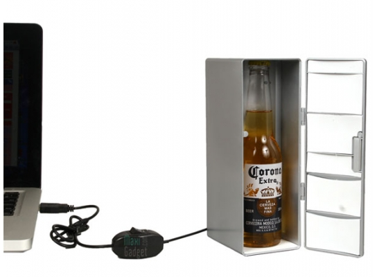 Мини холодильник от USB Сhrome fridge фото