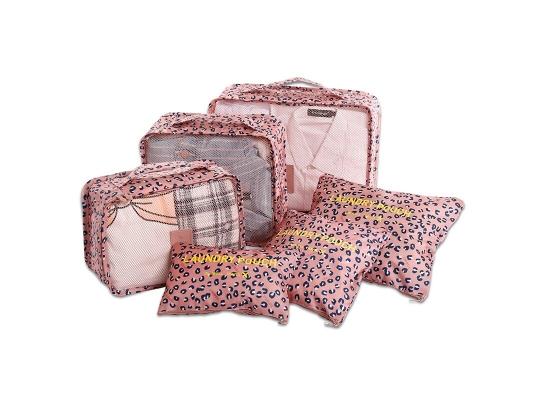 Органайзеры дорожные в наборе 3+3 сумки Леопардовый фото 3