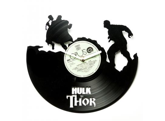 Часы настенные Халк и Тор фото