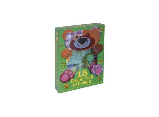 Игровой набор 15 пушистых игрушек из проволочек и помпончиков фото