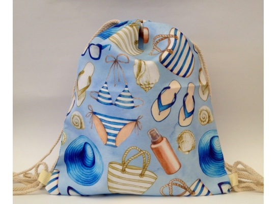 Летняя сумка-рюкзак для пляжа и прогулок Морская фото