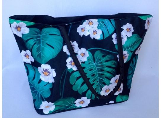 Летняя текстильная сумка для пляжа и прогулок Лилии фото