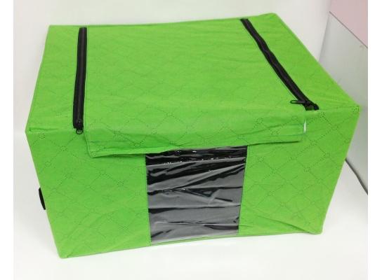 """Короб- органайзер для одежды на молниях с ручками """"Green"""" фото"""