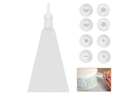 Кондитерский мешок с насадками 10пр/наб фото
