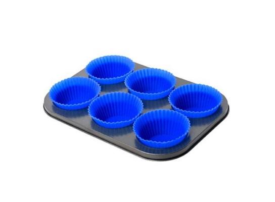 Форма для выпечки кексов с силиконовыми формочками фото