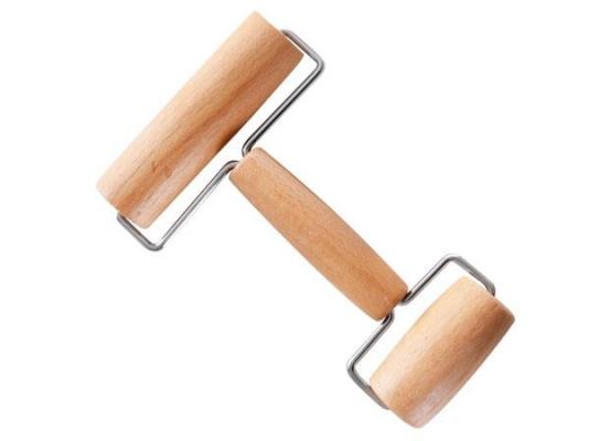 Валик для пиццы двойной Бамбук фото