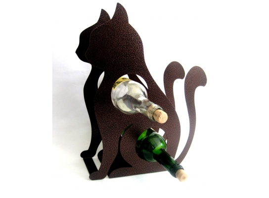 Подставка для бутылки Кот фото