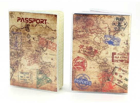 Обложка виниловая на паспорт Путешественника фото