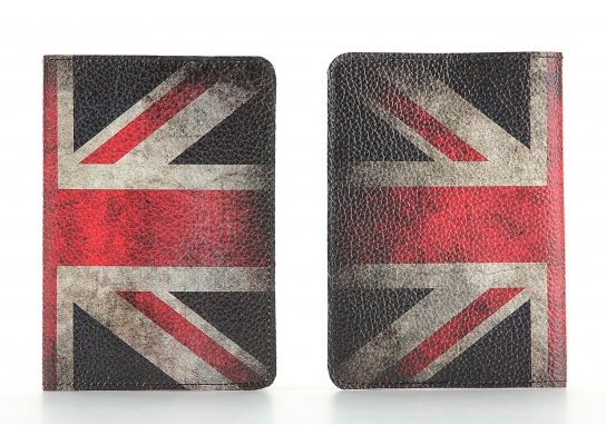 Кожаная обложка на паспорт Великобритания фото